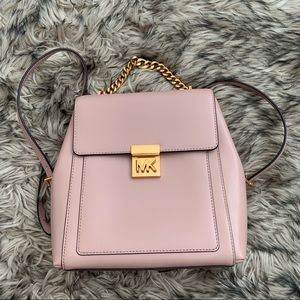 Michael Kors Nude Pink Leather Backpack
